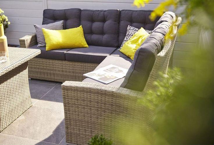 salon de jardin daveport r sine tress e leroy merlin. Black Bedroom Furniture Sets. Home Design Ideas