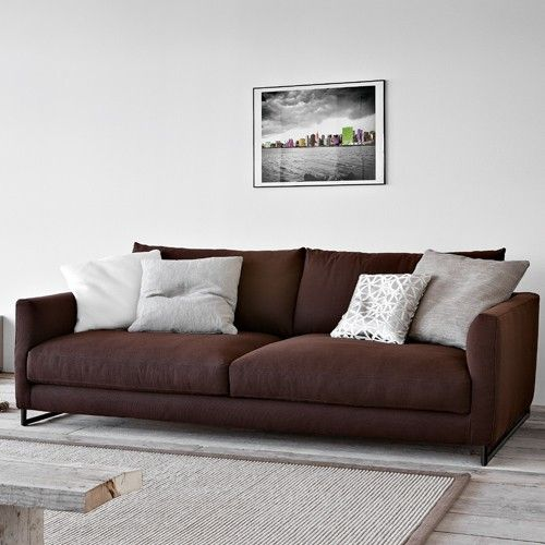 The Charme 3 Seater Sofa, Deep Seat is charming with its soft sloping lines and cozy comfort. The sofa keeps it simple with its clean lines, its unique pipeline base, and overall plushness.