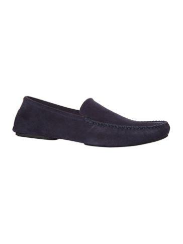Hugo Boss Suede loafer slipper Navy - House of Fraser