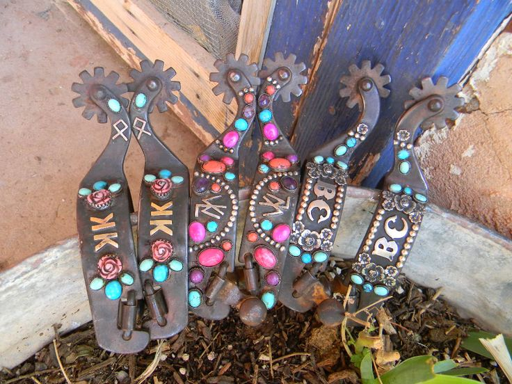 Custom order spurs from The Mad Cow Company