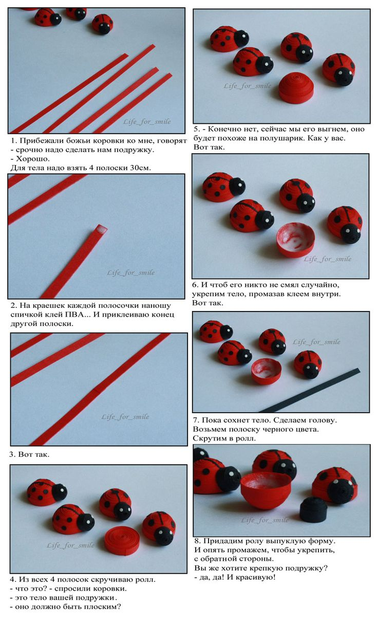 Tale of the ladybird. instructions, quilling