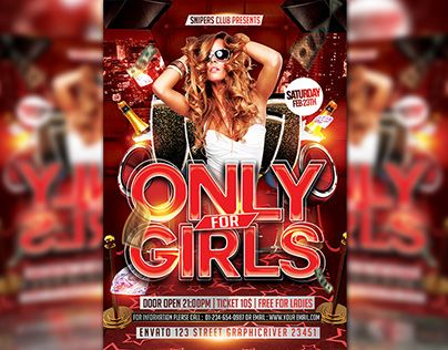 """Check out new work on my @Behance portfolio: """"Only For Girls"""" http://be.net/gallery/34639515/Only-For-Girls"""