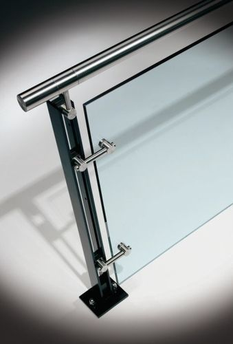 Glass railing (with metal handrail) FERRIC HDI Railing Systems
