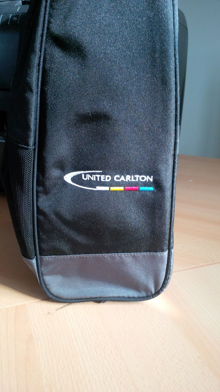 An example of embroidery used on a bag to promote your golf club, emblem or business.