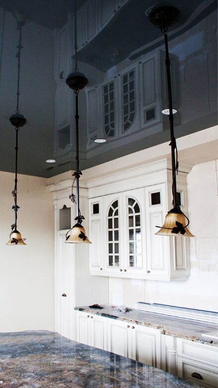 Le style de provence.  Make your kitchen look authentically with LaqFoil Stretch Ceilings!!! Visit our website for more interesting ideas: http://www.laqfoil.com/ #StretchCeiling #ceiling #design #kitchen