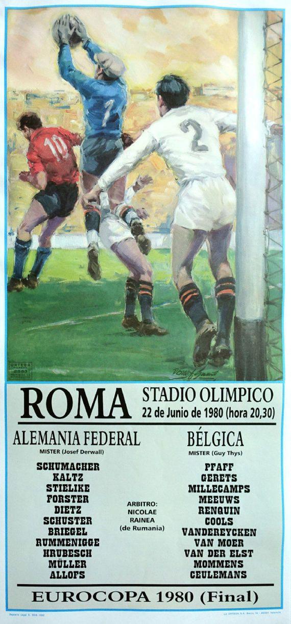 1980 UEFA Euro Final Football/Soccer West by OutofCopenhagen