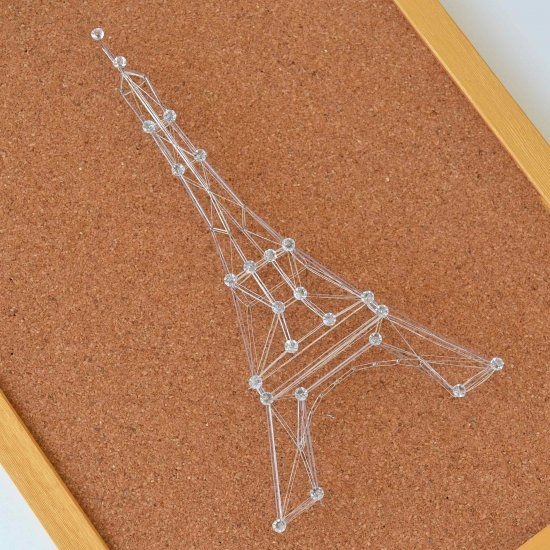 Pin and Thread Eiffel Tower
