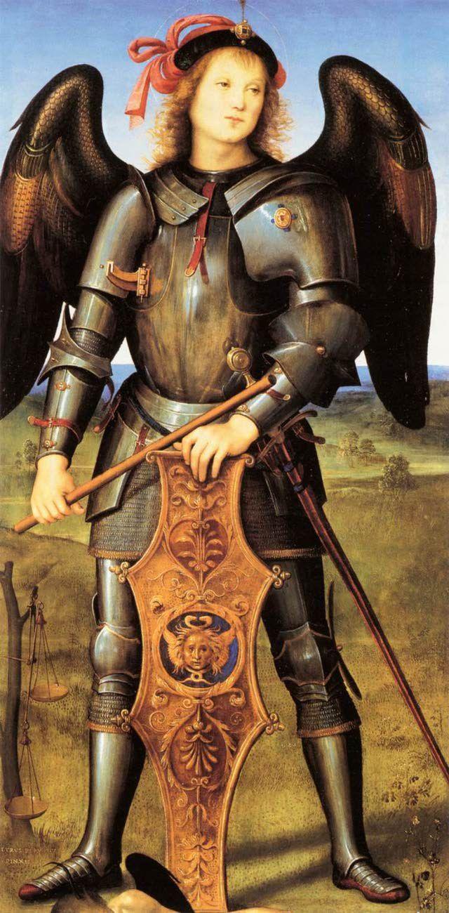Imágenes de San Miguel Arcángel: Arcángel Miguel por Perugino Pietro