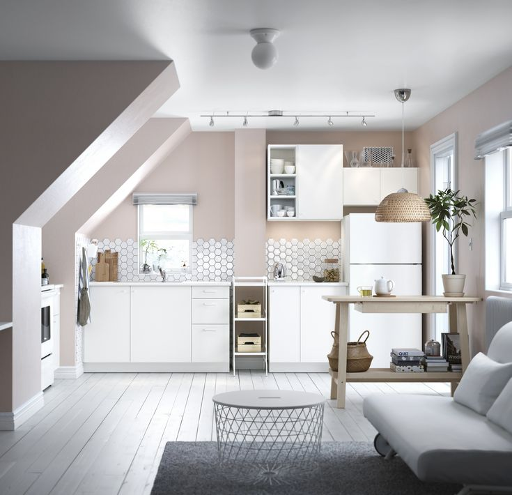 METOD/HÄGGEBY keuken | IKEA IKEAnl IKEAnederland wit koken eten eetkamer interieur wooninterieur inspiratie wooninspiratie veelzijdig kasten keukenkast keukenkasten kast opbergen opberger IKEA PS LÖVÅS 2-zitsslaapbank