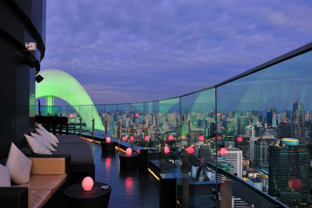 Red Sky - Bar and Restaurant on the rooftop at Grand Centara (Central World) in Bangkok