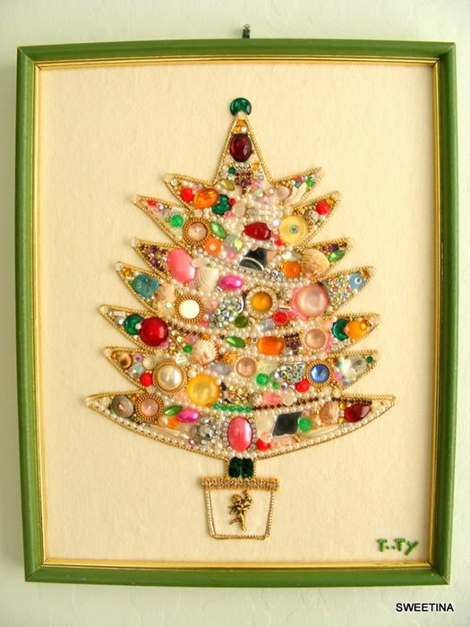 Vintage Bling Christmas Decoration - so pretty!