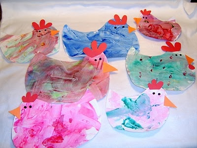 Chicken crafts for Easter