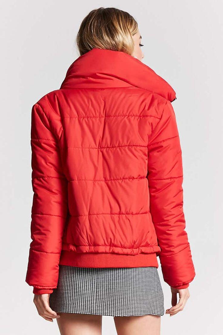 Zip-Up Puffer Jacket - Coats + Jackets - 2000149496 - Forever 21 EU English
