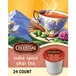 CELESTIAL SEASONINGS® INDIA SPICE CHAI TEA KEURIG KCUPS