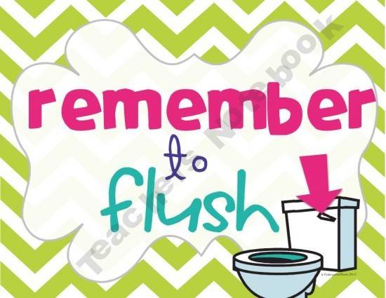 Bathroom Reminders | School | Pinterest | Bathroom and Products