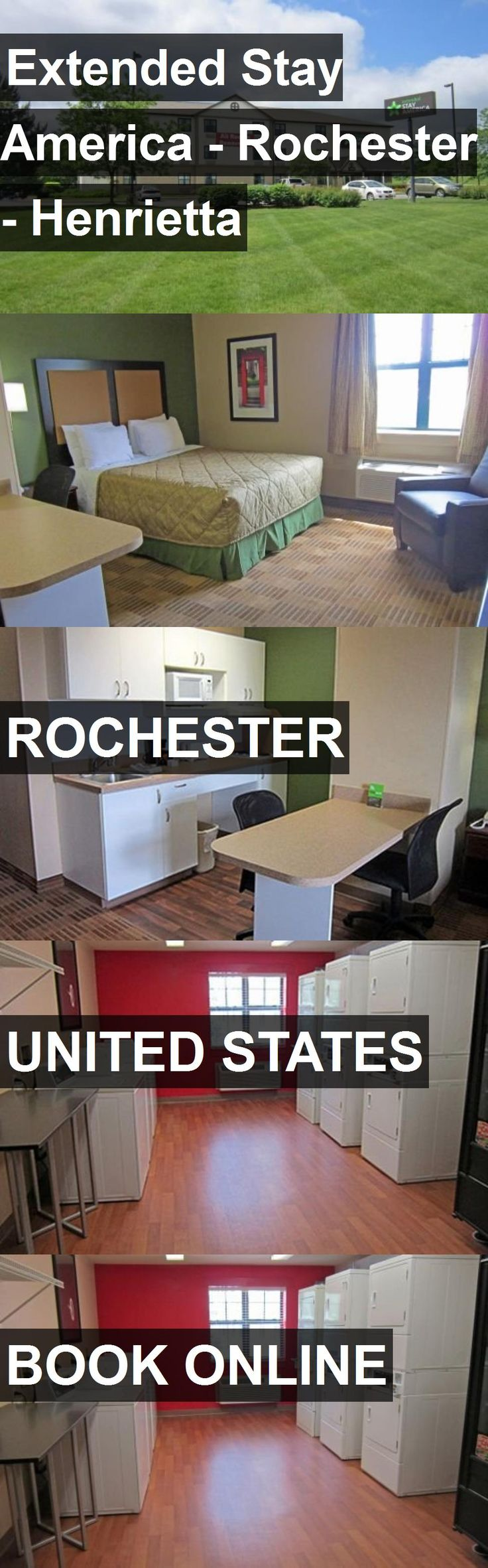 Hotel Extended Stay America - Rochester - Henrietta in Rochester, United States. For more information, photos, reviews and best prices please follow the link. #UnitedStates #Rochester #travel #vacation #hotel