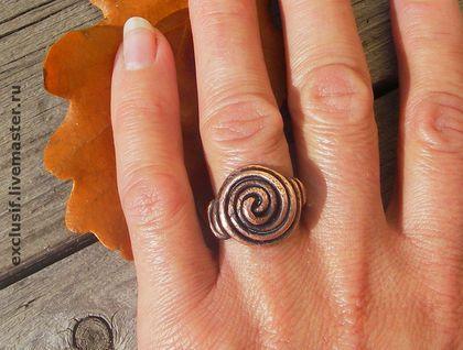 """Кольца ручной работы. Ярмарка Мастеров - ручная работа Кольцо """"Двойная спираль"""". Handmade."""