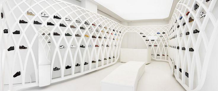 Columbarium idea? Store Shelves Become a Shrine to Sneakers | Co.Design | business + design |