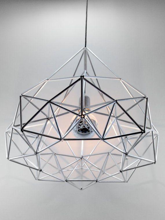 Gridded Geometry Illuminators - The Himmeli Diamond Star Light from Etsy's Panselinos Shop (GALLERY)