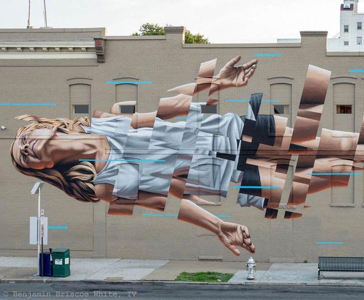 The Falling – Le street art de James Bullough
