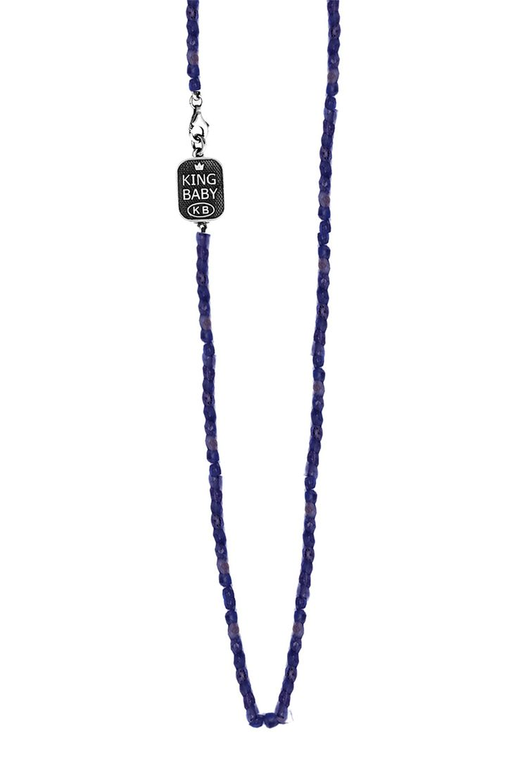 King Baby | Sterling Silver Sapphire Bead Necklace | HauteLook  #streetstyle