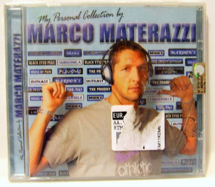 Marco Materazzi My Personal Collection CD Football Soccer Rock and Roll Music