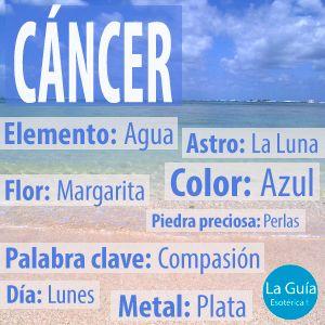 Descubre más sobre Cáncer: http://www.laguiaesoterica.com/horoscopos/19-cancer-22-junio-23-julio.html