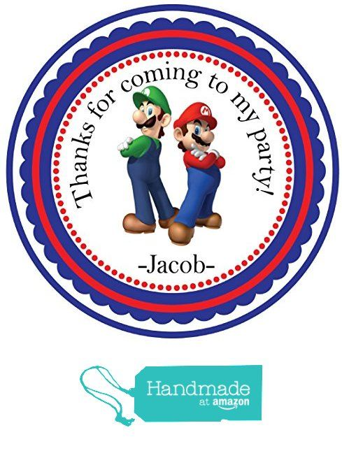 Super Mario Brothers Sticker Party Customized Sticker round birthday labels- Themed Party Favors-Custom Personalized Birthday Party Favor Stickers, Treat Tags Bag, Toppers, Easy PEEL and STICK backing -Each 2.5 inches-You will receive 24 stickers POPULAR SIZE 2.5 inches. WANT ANOTHER CHARACTER WITH THE SAME FRAME? PLEASE CONTACT US WE WILL MAKE A LISTING JUST FOR YOU! from Custom Party Favors, Handmade Craft , and Educational Products…