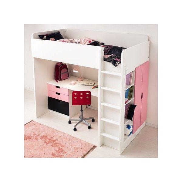 STUVA кровать, шкаф, стол (белый, черный) Кровать-шкаф детская Ikea -  Mebeles.buv.lv
