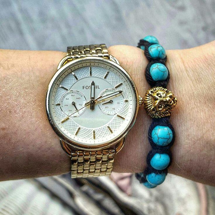Golden lion shamballa bracelet