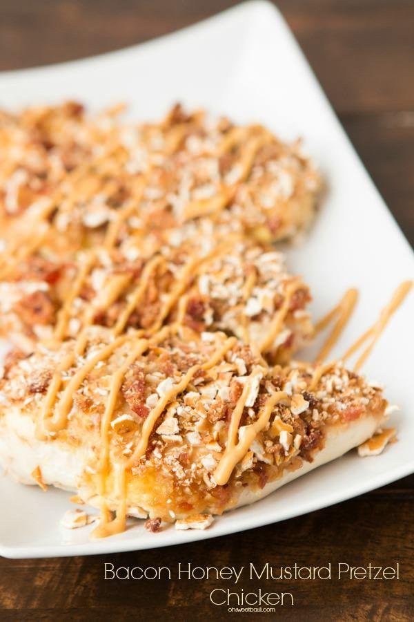 Bacon Honey Mustard Pretzel Chicken   Recipe   Father's day, Bacon and ...