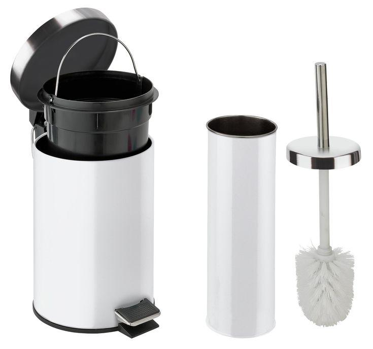 Buy Argos Home Slow Close Bin And Toilet Brush Set White Bathroom Bins Argos In 2020 Toilet Brush Argos Home Toilet Brush Holders