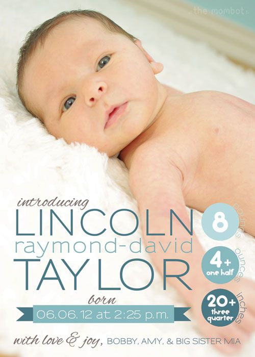 birth announcement, photo birth announcement, printable birth announcement