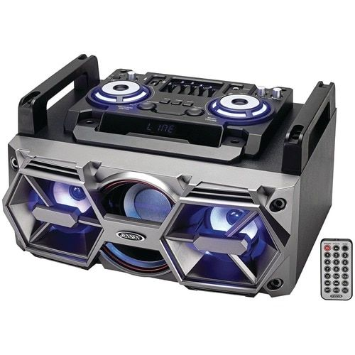 Jensen Portable Bluetooth All-in-one Hi-fi Music System With Pa
