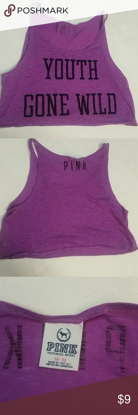 Victoria's secret pink tank Victoria's secret pink cropped loose tank, M PINK Victoria's Secret Tops Crop Tops
