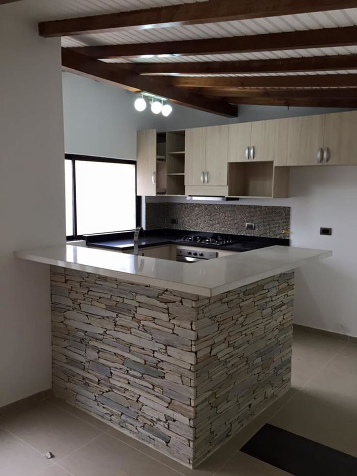 M s de 25 ideas incre bles sobre barras de cocina en for Decoracion de cocinas pequenas en madera