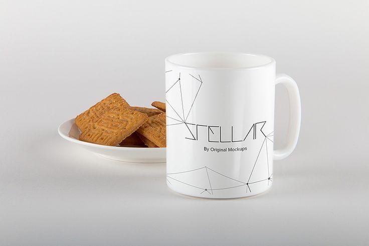 Original Mockups - Mug with Cookies Mockup 05
