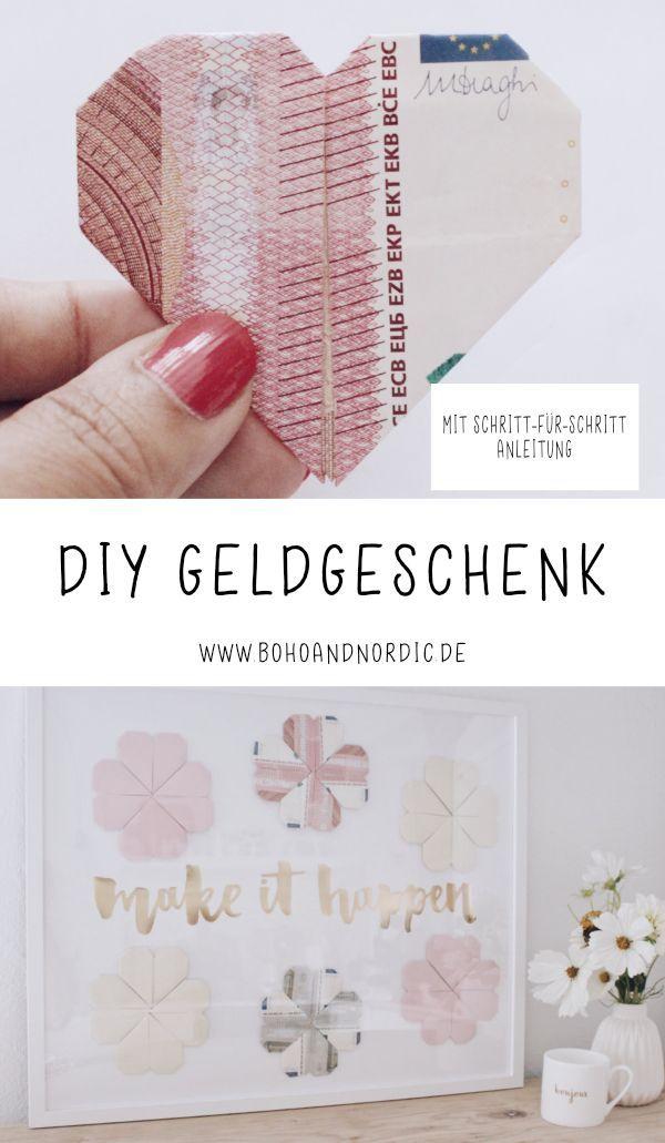 Ad – DIY Geldgeschenk mit Photolini. Geld kreativ und nett verschenken ….   – Konfirmation. DIY