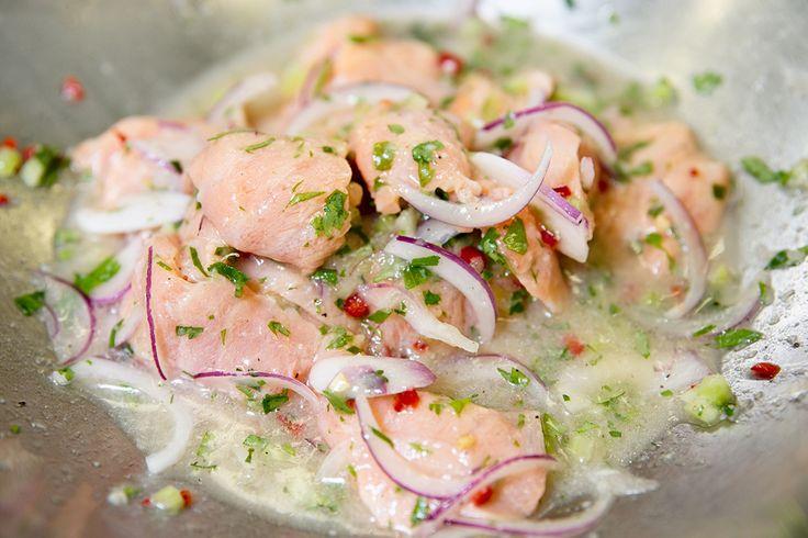 Ceviche de saumon façon Chilienne par le Chef Giovanni Apollo #apollorecettes