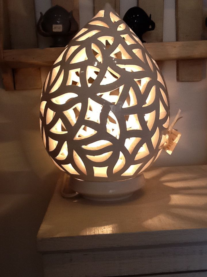 Lampada in ceramica bianca  Lampade Ceramica - Pottery Lamps - Lampes en Ceramique  Pinterest ...