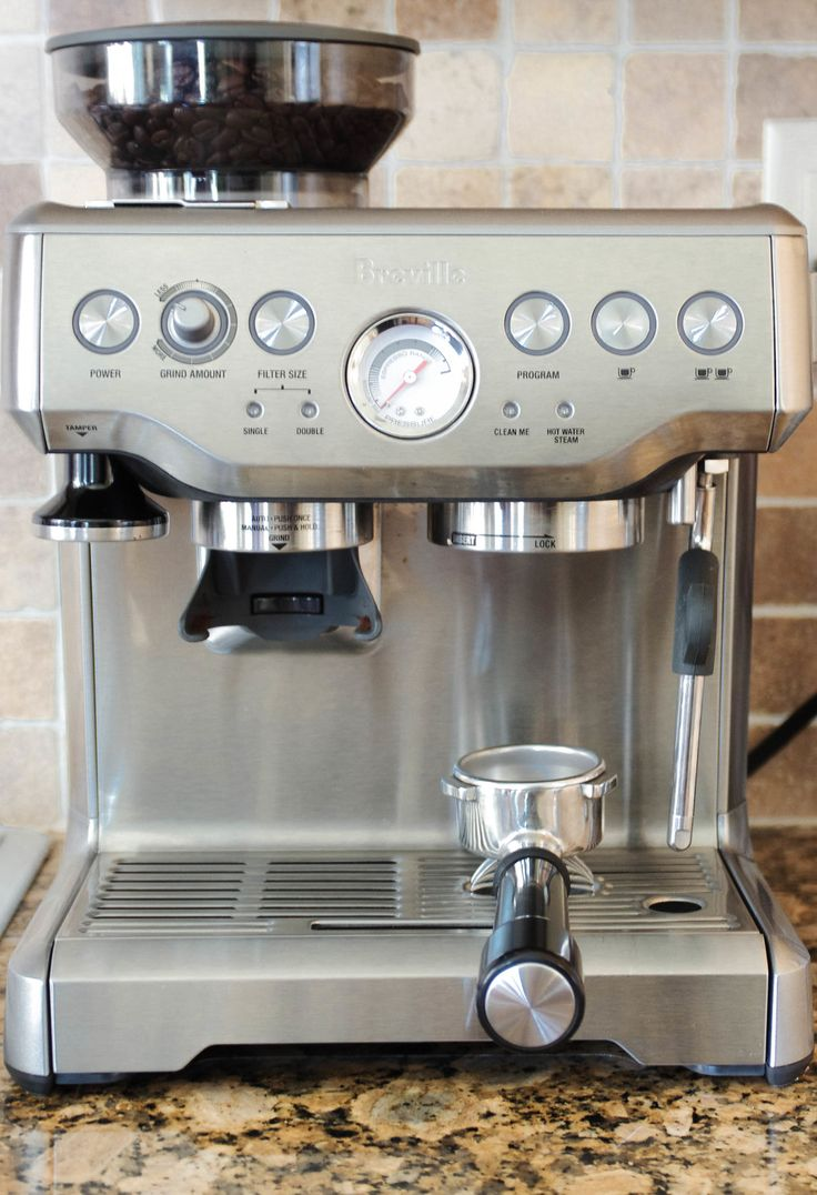 The Breville Barista Express is my new BFF