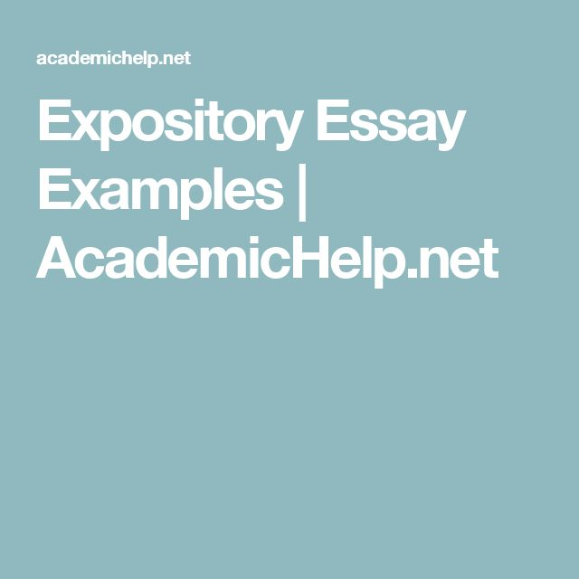 Expository essay meaning and examples