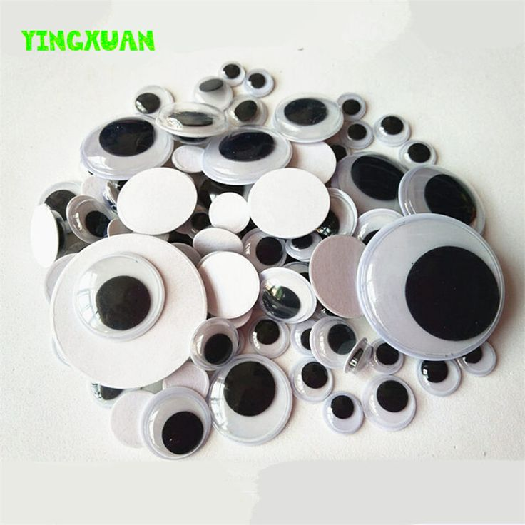 5mm-20mm Mixed Self -adhesive Turning Eyes baby Handmade DIY Art & Craft Materials for Creativity Kids Educational Toys