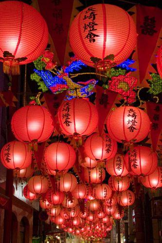 Nagasaki lantern festa Japan ながさき