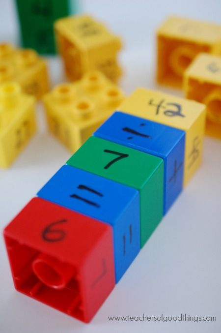 How to Teach Math Facts with Legos