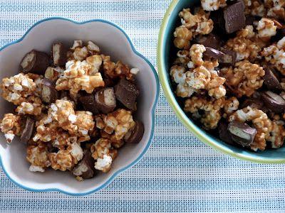 Caramel Twix Popcorn | What You Got Cooking | Pinterest