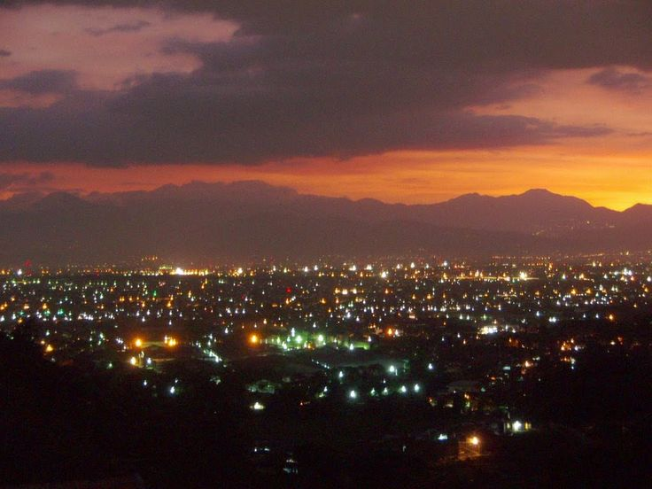 Bandung in the evening