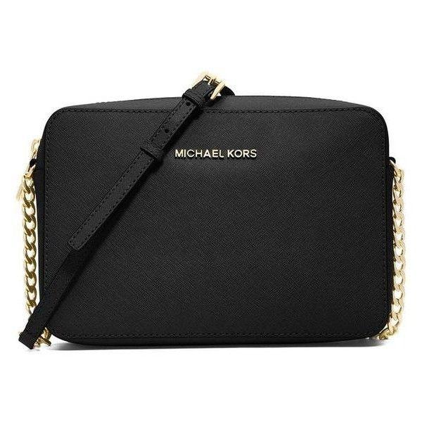 MICHAEL MICHAEL KORS Women's Jet Set Travel Saffiano Crossbody Bag ❤ liked on Polyvore