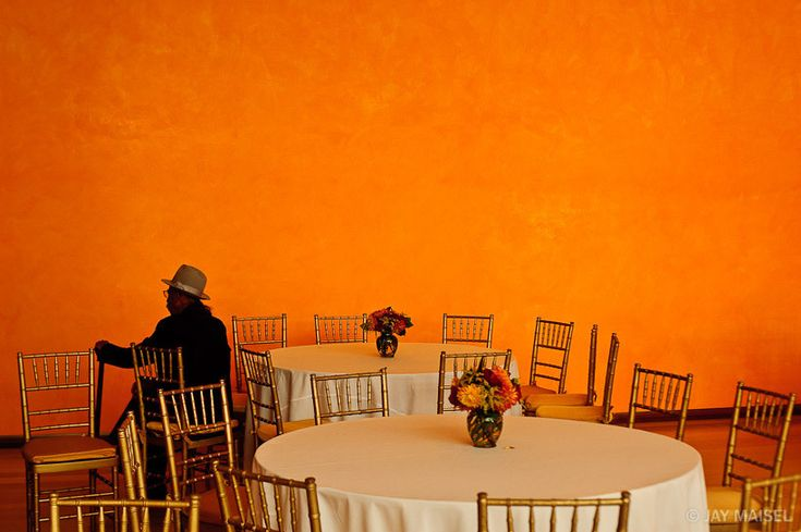 Man and Orange Wall | Jay Maisel