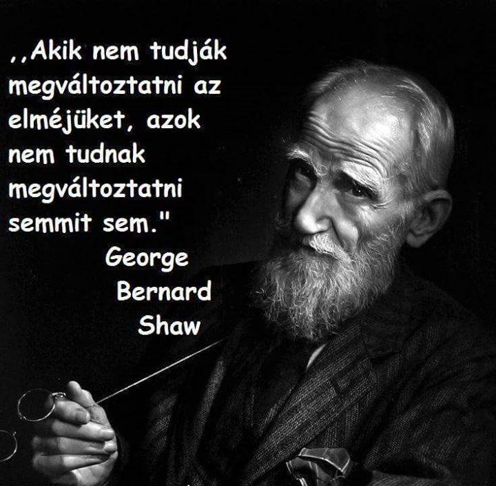 George Bernard Shaw idézete a változásról. A kép forrása: Motiváció Minden Napra